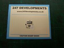 """0"" Gauge 247 Developments Shed Plate 82C"
