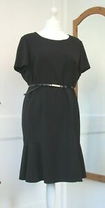M&S BLACK SHORT SLEEVE FORMAL DRESS (VARIOUS SIZES)