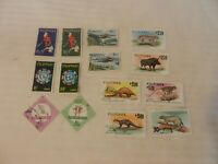 Lot of 14 Philippines Stamps, 1962, 1963, 1964, 1960 Sports, Animals