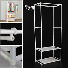 Clothes Rail Bedroom Open Wardrobe Steel Stand Storage Rack Shoe Shelves Unit UK