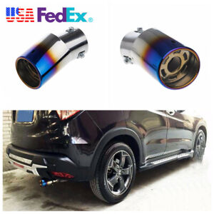 Stainless Steel Colorful Car Rear Round Exhaust Tailpipe Muffler End Tip 85x63mm