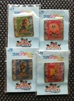 Vintage Nintendo Super Smash Bros DX pin badge Rare Promo Event Prize SET OF 4 N