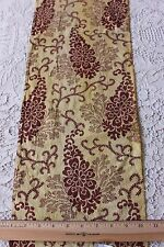Rare Antique c1810-1820 French Block Printed Yellow Cotton Fabric~Quilters,Dolls