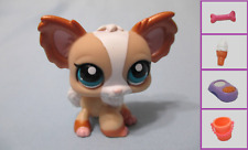 Littlest Pet Shop#1082 Tan,White & Bronze Pearlized Chihuahua+1 FREE Access Auth