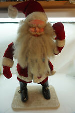 VINTAGE SANTA CLAUS FIGURE DEPARTMENT STORE CHRISTMAS DISPLAY CA 1950s 24in d