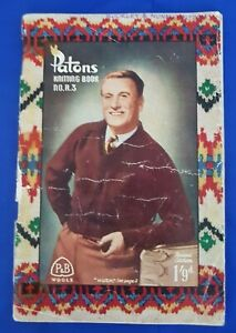 Vintage Patons Knitting Book # R.3 Men's Knits