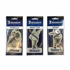 3 Michelin Man Car Van Truck Caravan Air Fresheners Vanilla, New Car, Sport- New