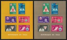 Togo Boy Scout Movement Commemoration 2 MSs imperf MNH SG#MS286a