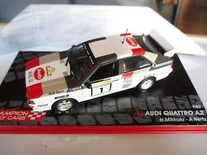 AUDI QUATTRO A2 rally car model 1000 Lakes Rally 1983 H.Mikkola / A.Hertz