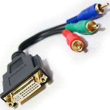 3 Rca Componente Rgb Video Macho A Dvi-i Hembra Adaptador