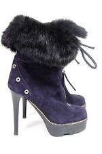 Giuseppe Zanotti Navy fur lined ankle boots 35.5 UK 3