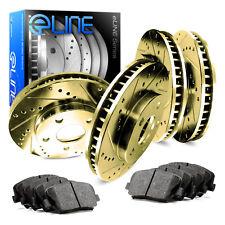 Full Kit Gold Drilled Slotted Brake Rotors & Ceramic Brake Pad Freestar,Monterey
