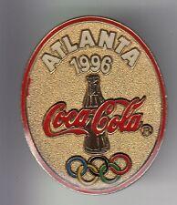 RARE PINS PIN'S .. COCA COLA COKE OLYMPIQUE OLYMPIC VINTAGE ATLANTA 1996 USA ~17