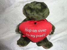 "Boyds w/tag Hop On Over to My Pad Frog 8"" Plush Soft Toy Stuffed Animal"