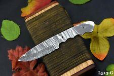 Custom Damascus Steel Blank Blade Miniature Hunting Knife Handmade, (L513-G)