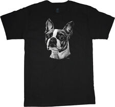 Boston Terrier T-shirt Dog Breed Face Tee Men's Clothing Dog Person Gifts