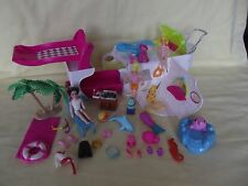 POLLY POCKET Party Boat YACHT Cruise Ship With Dolls Dolphin & Accessories