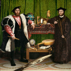 The Ambassadors (1533) Hans Holbein the Younger wall art poster print