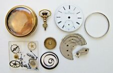 Appleton Watch Co. 18 size Partial Pocket Watch for parts or repair