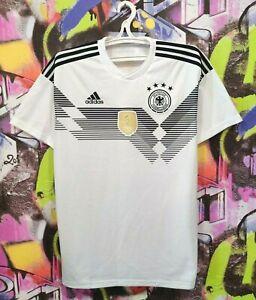 Germany Soccer National Team 2018 Home Football Shirt Jersey Top Adidas Mens L