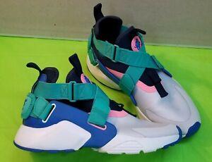 🔥👟Nike Huarache City High GS AJ6662-001 Pure Platinum Blue Nebula Shoes Size5Y