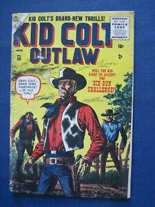 Vintage comic book Atlas Kid Colt Outlaw #58 March 1956