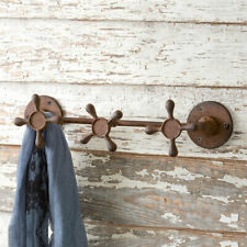 Faucet Handle new Wall Hook in Rusty Tin