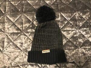 SoulCal Aztec Knit Hat Mens Gents Bobble Stamp