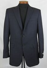 Men's HICKEY FREEMAN Blue Brown Plaid Wool Jacket Blazer 41 L 41L NWT NEW $895+