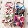 Shape  Printed Flowers Bow knot Nylon Hairband Baby Headband Nylon Head Wraps