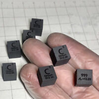 99.99% High Purity Graphite C 10mm Metal Carved Element Periodic Table