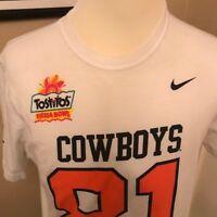 Nike OSU Cowboys OK State T-Shirt Mens Large Tostitos Fiesta Bowl Football #81