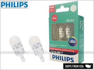 194 T10 PHILIPS ULTINON LED RED Brake Light Bulbs 194RULRX2 (Pack of 2)
