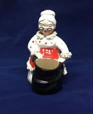 Mrs Claus w/ Toy Bag Ceramic Figurine Statue Decoration Red White Black Xmas C-6