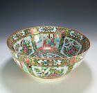 Large Antique Chinese Rose Medallion Porcelain Punch Bowl