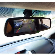 "Car Rear View Mirror Monitor 4.3""TFT LCD Backup with Special Bracket 2CH Video"