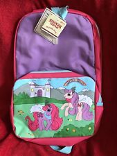 "Stranger Things X My Little Pony Retro Backpack New 16"" Purple Starcourt Print"