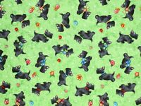 SCOTTIE DOGS  MARY ENGELBREIT  COTTON FABRIC  SCOTTISH TERRIER  FREE US SHIPPING