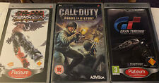 3 PSP Games - Tekken  - Call Of Duty - Gran Turismo all with Instructions