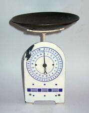 Um 1910: Emaille 28 cm Tellerwaage / Küchenwaage bis 20 kg – funktionstüchtig
