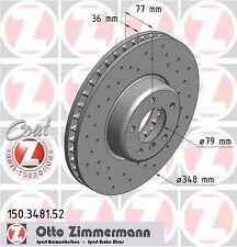 Disque de frein avant ZIMMERMANN PERCE 150.3481.52 BMW 5 E60 535d 272 286ch