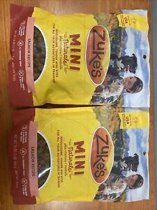 Zuke's Mini Naturals Dog Treat Savory Salmon, 2 Pack Bundle 16oz Each!