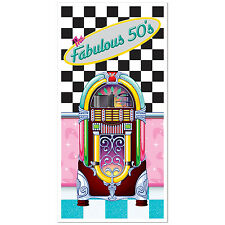 Fabulous 50s JUKEBOX DOOR wall COVER Party Decoration Photo Prop SOCK HOP