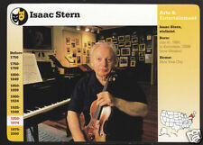 ISAAC STERN Violinist 1997 Photo Grolier Story of America CARD