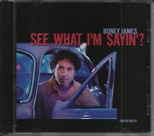 BONEY JAMES See What I'm Sayin w/ RARE EDIT RADIO DJ PROMO CD single Saying 2001