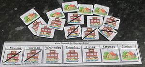 Visual timetable for home and school, 21 PEC cards & Board ~Autism~SEN~Schools