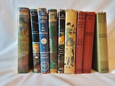 Lot of 9 vintage antique decorative children's series books Hardy Boys Tom Swift