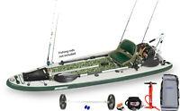 Sea Eagle FS126 Ultimate Pkg SUP Paddleboard W/Motor, EZ Cart, BP12 Elec Pump