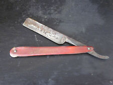 "Vintage Red Imp 133 Hand Forged 5 1/2"" Straight Shaving Razor Solingen Germany"