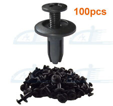 100Pcs 6mm Hole Car Plastic Rivets Fastener Fender Bumper Clips Retainer Rivets